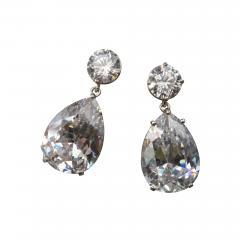 Michael Kneebone Michael Kneebone White Topaz White Sapphire Dangle Earrings - 1277491