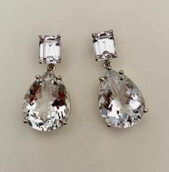 Michael Kneebone Michael Kneebone White Topaz White Sapphire Dangle Earrings - 1495403