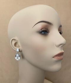 Michael Kneebone Michael Kneebone White Topaz White Sapphire Dangle Earrings - 1495404