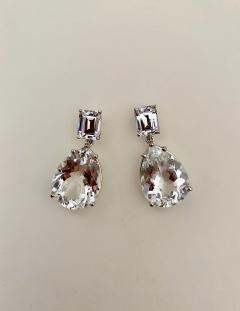 Michael Kneebone Michael Kneebone White Topaz White Sapphire Dangle Earrings - 1495429