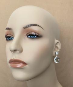 Michael Kneebone Michael Kneebone White Topaz White Sapphire Dangle Earrings - 1495431