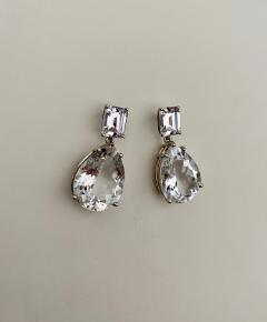 Michael Kneebone Michael Kneebone White Topaz White Sapphire Dangle Earrings - 1495432