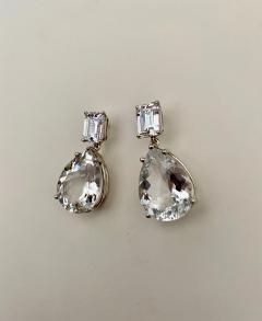 Michael Kneebone Michael Kneebone White Topaz White Sapphire Dangle Earrings - 1495439