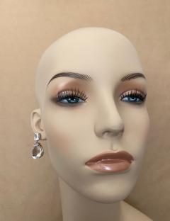 Michael Kneebone Michael Kneebone White Topaz White Sapphire Dangle Earrings - 1495442