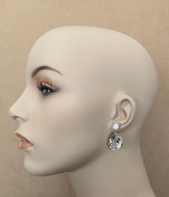 Michael Kneebone Michael Kneebone White Topaz White Sapphire Dangle Earrings - 1495444