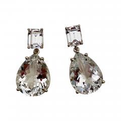 Michael Kneebone Michael Kneebone White Topaz White Sapphire Dangle Earrings - 1497062