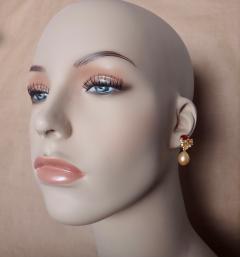 Michael Kneebone Michael Kneebone Yellow Sapphire Topaz Citrine Diamond Pearl Confetti Earrings - 1187870