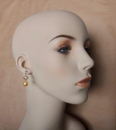 Michael Kneebone Yellow Sapphire Golden South Seas Pearl 18K Yellow Gold Dangle Earrings - 1155110