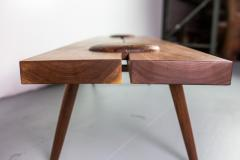 Michael Rozell Michael Rozell Studio Dome Bench or Coffee Table in Figured Walnut - 1412007