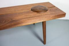 Michael Rozell Michael Rozell Studio Dome Bench or Coffee Table in Figured Walnut - 1412009