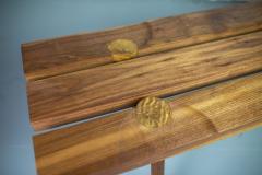 Michael Rozell Studio Slat Bench by Michael Rozell in Walnut and White Oak Inlays - 1440163