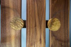 Michael Rozell Studio Slat Bench by Michael Rozell in Walnut and White Oak Inlays - 1440166