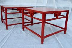 Michael Taylor Pair Michael Taylor Cinnabar Side Tables Baker Far East Collection C 1960 - 874517