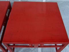 Michael Taylor Pair Michael Taylor Cinnabar Side Tables Baker Far East Collection C 1960 - 874525