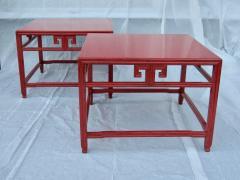 Michael Taylor Pair Michael Taylor Cinnabar Side Tables Baker Far East Collection C 1960 - 874527