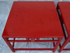 Michael Taylor Pair Michael Taylor Cinnabar Side Tables Baker Far East Collection C 1960 - 874528
