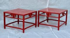 Michael Taylor Pair Michael Taylor Cinnabar Side Tables Baker Far East Collection C 1960 - 874529