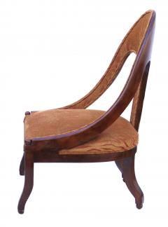 Michael Taylor Pair of Michael Taylor for Baker Mid century Spoon Back Slipper Lounge Chairs - 1752969