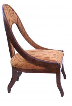 Michael Taylor Pair of Michael Taylor for Baker Mid century Spoon Back Slipper Lounge Chairs - 1752970