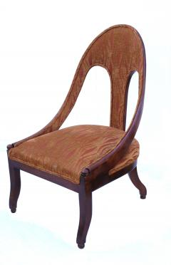 Michael Taylor Pair of Michael Taylor for Baker Mid century Spoon Back Slipper Lounge Chairs - 1752971