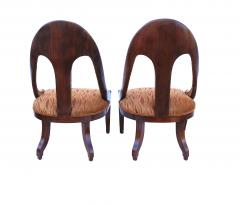 Michael Taylor Pair of Michael Taylor for Baker Mid century Spoon Back Slipper Lounge Chairs - 1752975