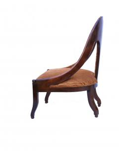 Michael Taylor Pair of Michael Taylor for Baker Mid century Spoon Back Slipper Lounge Chairs - 1752976