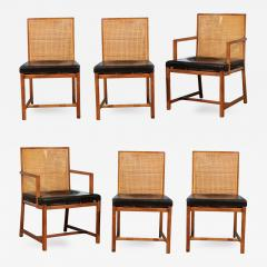 Michael Taylor Rare Surviving Set Of Six Coveted Cane Dining Chairs By  Michael Taylor For Baker