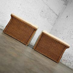 Michael Taylor Rattan wicker pair of oversized lounge chairs manner of michael taylor - 2066173
