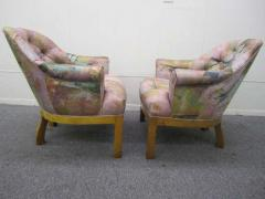 Michael Taylor Spectacular Pair of Mid Century Modern Barrel Back Club Chairs Asian Influenced - 1843669