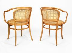 Michael Thonet Pair of Michael Thonet Solid Beechwood and Cane no 209 Armchairs - 1126518