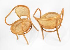 Michael Thonet Pair of Michael Thonet Solid Beechwood and Cane no 209 Armchairs - 1126519