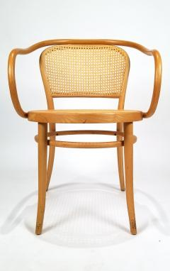 Michael Thonet Pair of Michael Thonet Solid Beechwood and Cane no 209 Armchairs - 1126521