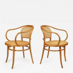 Michael Thonet Pair of Michael Thonet Solid Beechwood and Cane no 209 Armchairs - 1127088