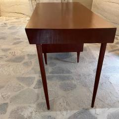 Michael van Beuren 1950s Refined Floating Desk Mexican Mahogany Fabulous Form Tall Tapered Legs - 2030759