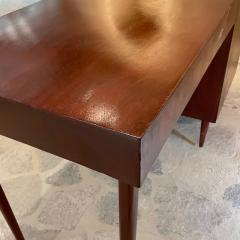 Michael van Beuren 1950s Refined Floating Desk Mexican Mahogany Fabulous Form Tall Tapered Legs - 2030760