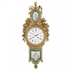 Michel Balthazar Gilt bronze and porcelain clock and barometer set by Michel Balthazar - 1459607