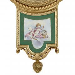 Michel Balthazar Gilt bronze and porcelain clock and barometer set by Michel Balthazar - 1459609