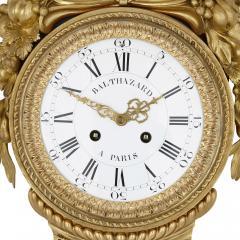Michel Balthazar Gilt bronze and porcelain clock and barometer set by Michel Balthazar - 1459610