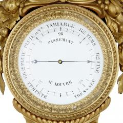 Michel Balthazar Gilt bronze and porcelain clock and barometer set by Michel Balthazar - 1459611