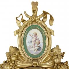 Michel Balthazar Gilt bronze and porcelain clock and barometer set by Michel Balthazar - 1459612