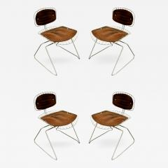 Michel Cadestin Georges Laurent Michel Cadestin Georges Laurent Set of 4 Beaubourg Dining Chairs 1976 - 330885