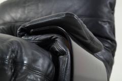 Michel Ducaroy Ducaroy Ligne Roset Sofa Set in Brown Perspex with Black Leather - 543394
