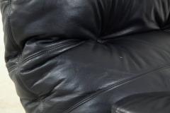 Michel Ducaroy Ducaroy Ligne Roset Sofa Set in Brown Perspex with Black Leather - 543396