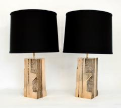 Michel Mangematin MICHEL MANGEMATIN CAST BRONZE SCULPTURAL PAIR OF FRENCH TABLE LAMPS CIRCA 1970 - 1672587