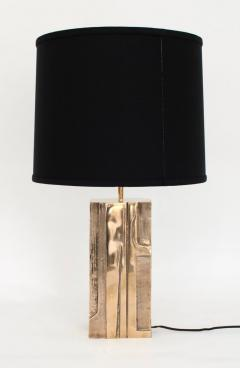 Michel Mangematin MICHEL MANGEMATIN CAST BRONZE SCULPTURAL PAIR OF FRENCH TABLE LAMPS CIRCA 1970 - 1672594