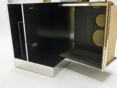 Michel Pigneres Rare Michel Pigneres brass mirrored alcantara sideboard circa 1969 - 1072546