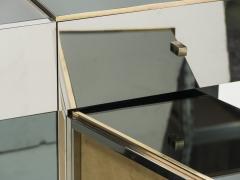 Michel Pigneres Rare Michel Pigneres brass mirrored alcantara sideboard circa 1969 - 1072550