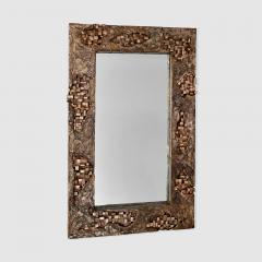 Michele Balestra bronze sculptural mirror - 943789