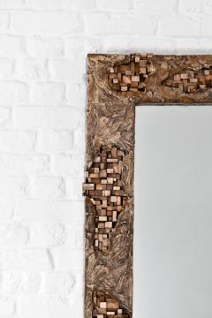 Michele Balestra bronze sculptural mirror - 943790