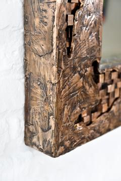 Michele Balestra bronze sculptural mirror - 943791